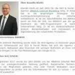 Kamillo Kluth auf SEO-Trainee