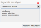 Projektkeywords anlegen